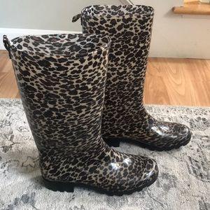 Capelli women's Leopard 🐆 rain boots size 7